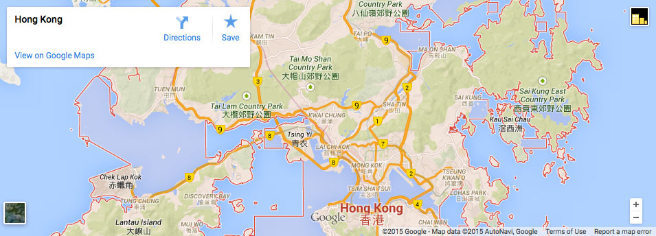 Map of Hong Kong business districts